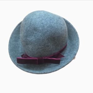 PINS AND NEEDLE GREY WOOL FEDORA